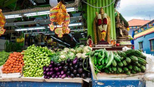 Puesto de comida en Little India