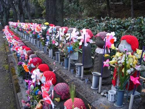 Estatuas Warabe Jizo en el Templo Zojoji de Tokio