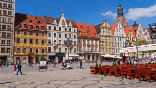 Plaza Rynek, el centro turístico de Breslavia
