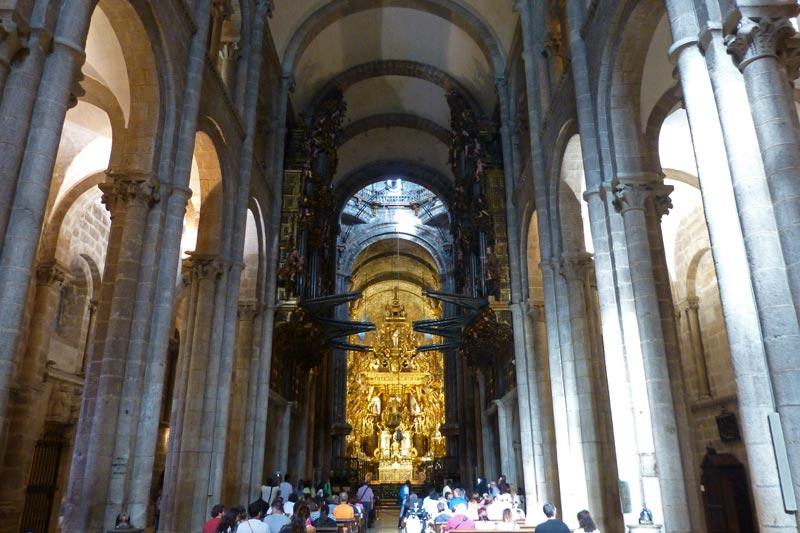 Catedral de santiago de compostela historia fotos - Interior santiago de compostela ...