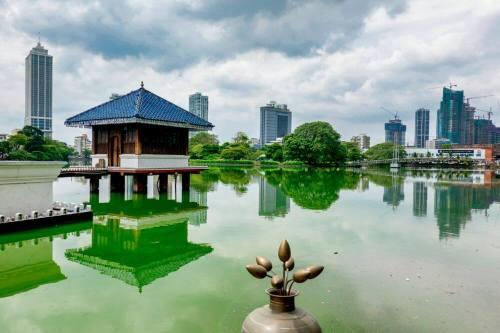 Lago Beira, uno de lo parques más visitados de Colombo