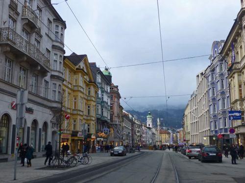 Maria Theresien Strasse, la calle más turística de Innsbruck
