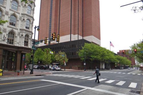 Market St, una de las principales avenidas de Filadelfia