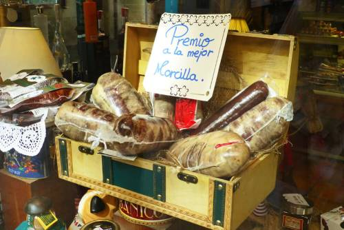 Morcilla de Burgos, uno de los productos más típicos de la gastronomía de Burgos