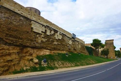 Tramo restaurado de la Muralla de Huesca
