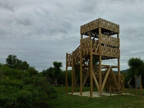 Observatorio de aves en la Marisma Victoria en Noja