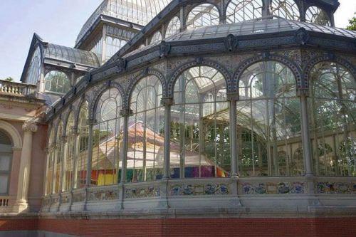 Palacio de Cristal en el Parque del Retiro de Madrid