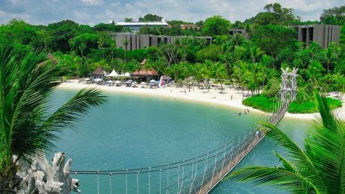 Palawan Beach, una de las playas más visitadas de isla Sentosa