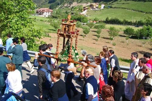Procesión de La Santuca, patrona del valle de Liébana