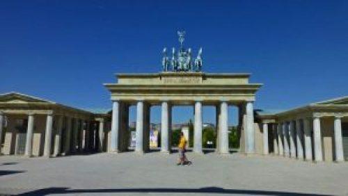 Réplica de la Puerta de Brandenburgo, uno de los monumentos más emblemáticos de Berlín