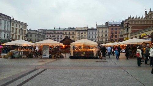 Mercado navideño de Cracovia en la Plaza del Mercado