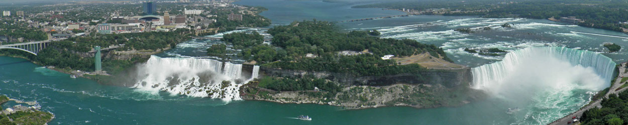 Guía de turismo con información y fotos para visitar las Cataratas del Niágara o Niagara Falls