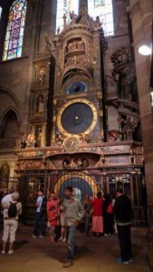 Reloj astronómico en la Catedral de Estrasburgo