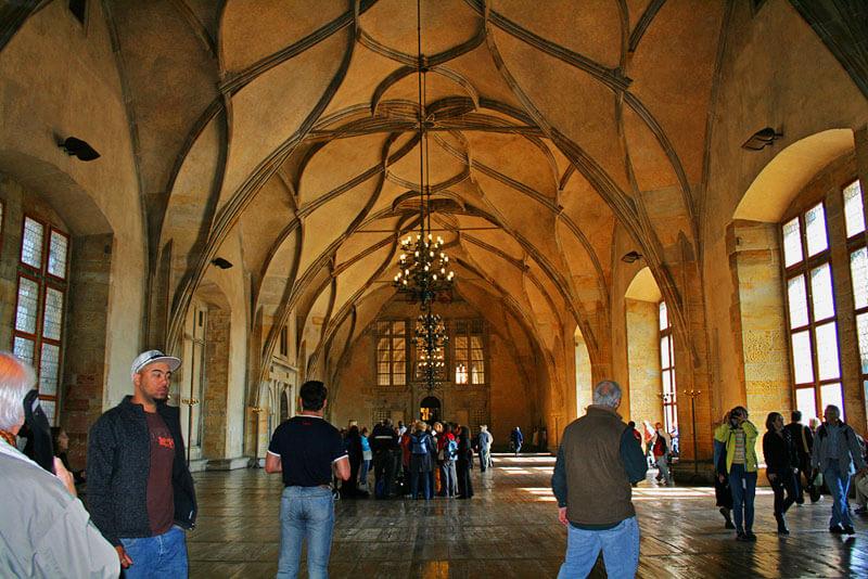 Sala Vladislav en el Castillo de Praga