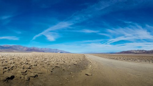 Carretera en el interior del Parque Nacional del Valle de la Muerte