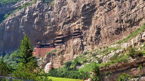 Templo Colgante o Templo Xuankong, cerca de Datong