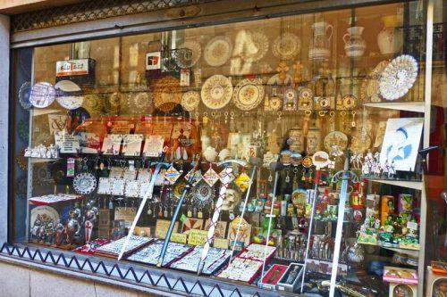 Tienda de recuerdos y souvenirs en Salamanca