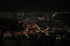 Vista nocturna de Hakodate, una de las más famosas del mundo