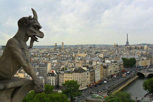 Vistas de París desde la Catedral de Notre Dame