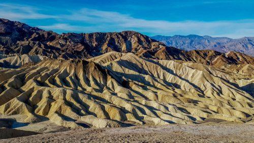 Zabriskie Point, el lugar ideal para ver las formaciones geológicas del Valle de la Muerte