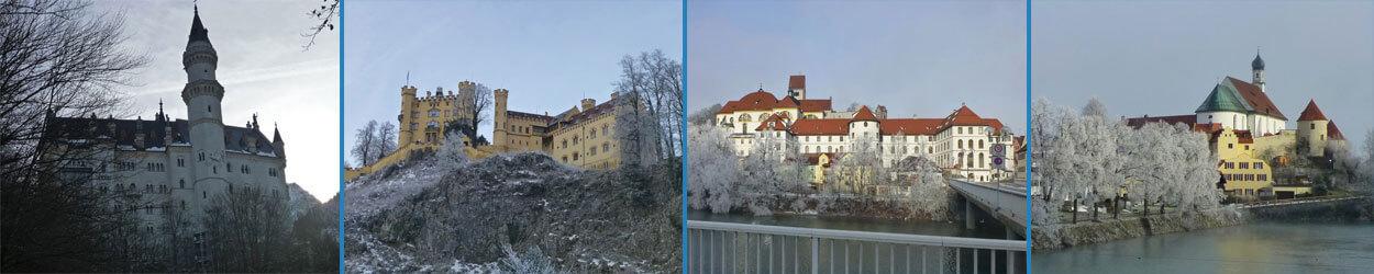 Guía turística con información y fotos para visitar Fussen y los Castillos del Rey Loco, Neuchswastein y Hohenschawangau