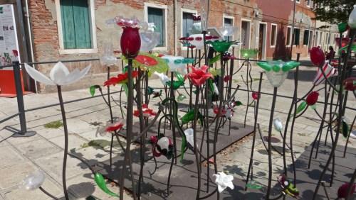 Decoración de la calles con cristal de Murano