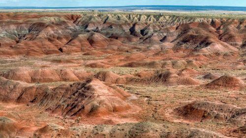 Capas de colores de Painted Desert o Desierto Pintado de Arizona