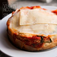 Vegan Ricotta and Spinach Lasagna for Two