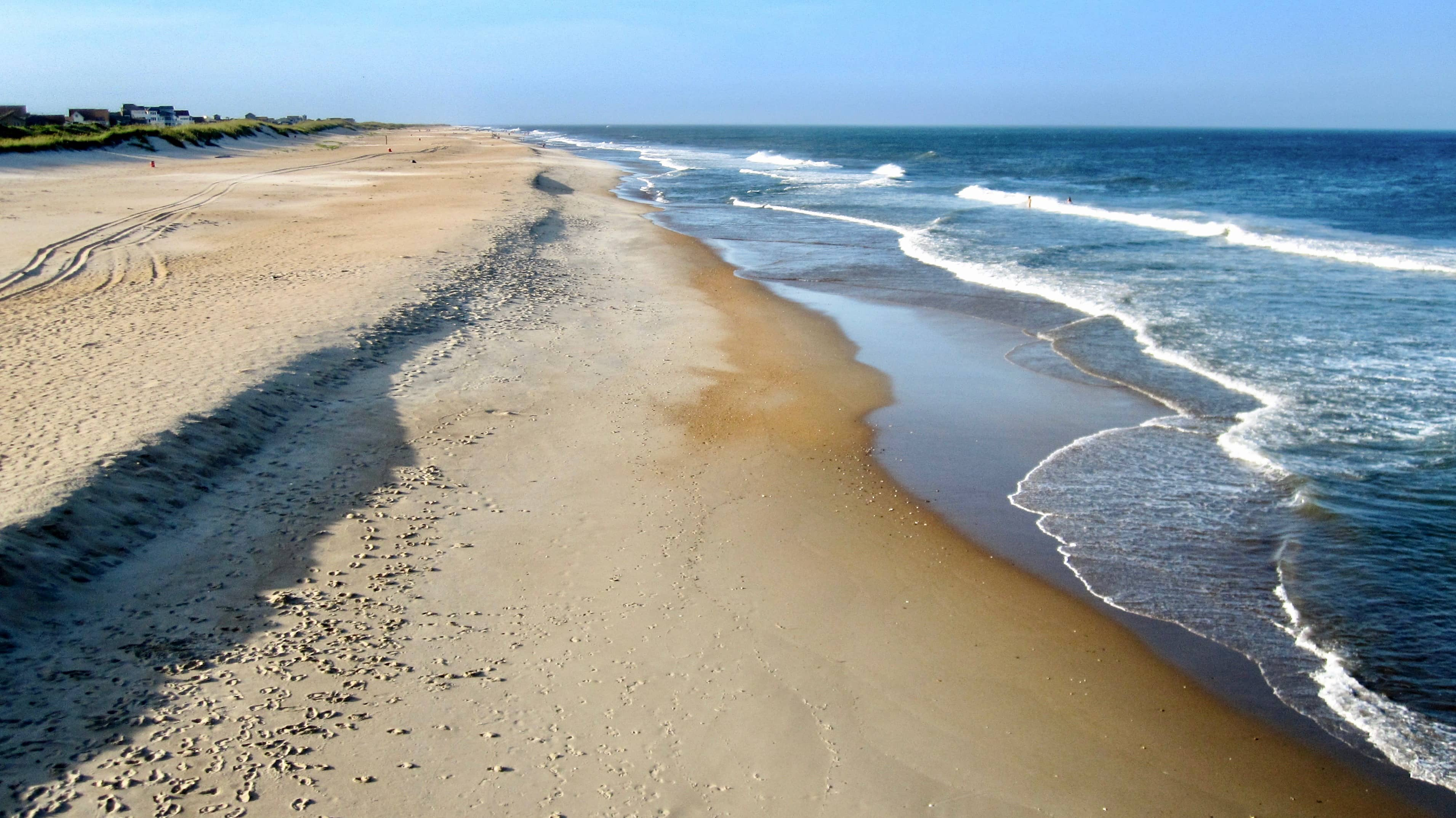 ocean and beach at Outer Banks, NC