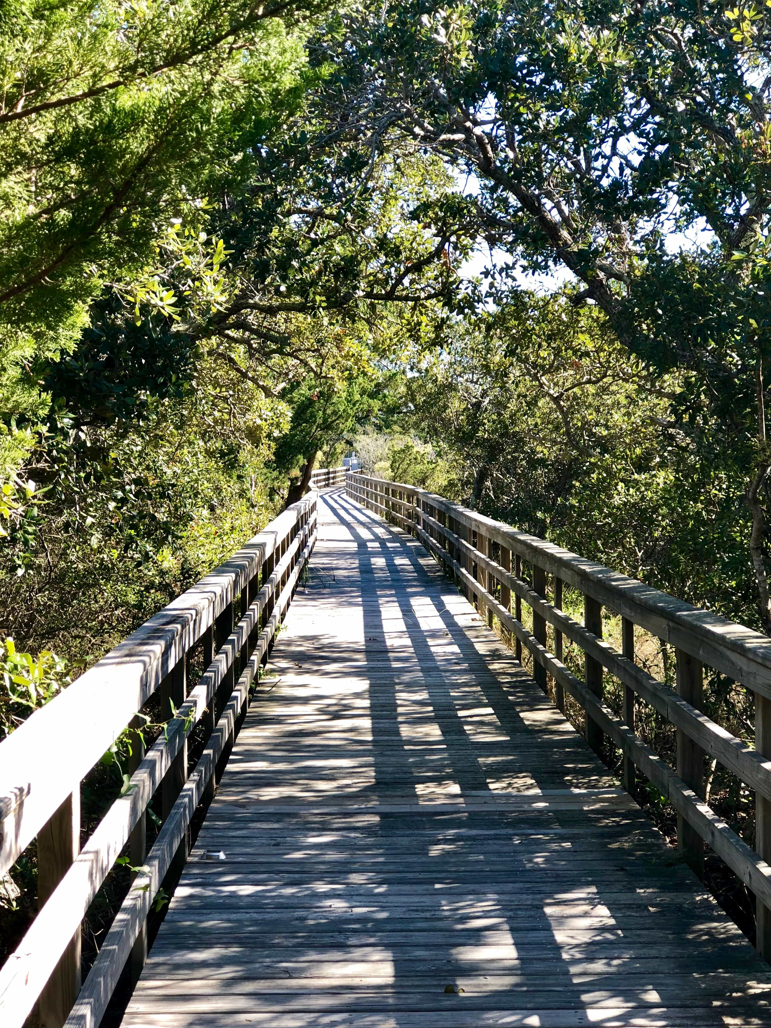 covered walkway to the sound of the Outer Banks