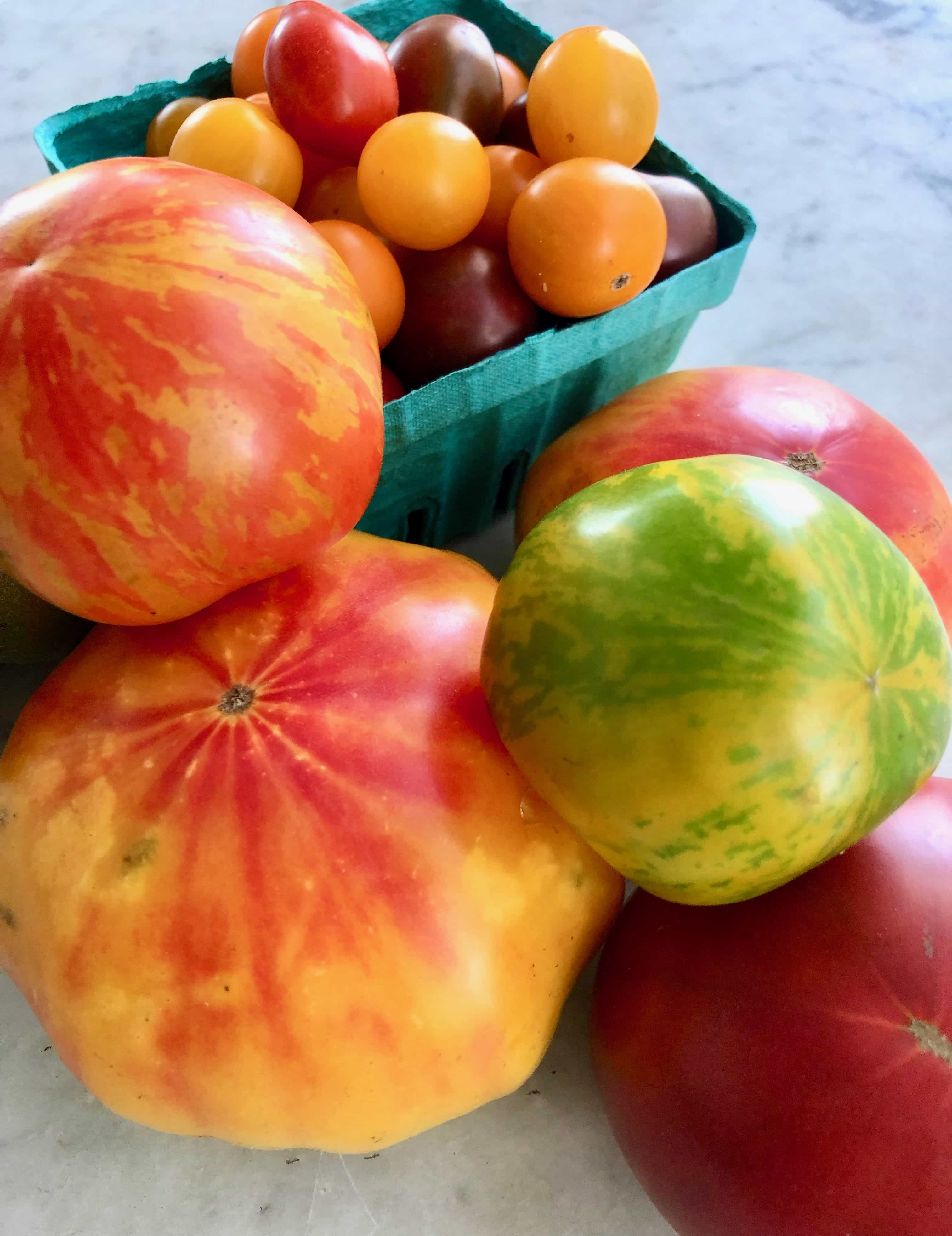 heirloom tomatoes from the Farmer's Market