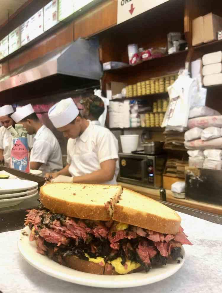 pastrami sandwich at Katz Deli in New York