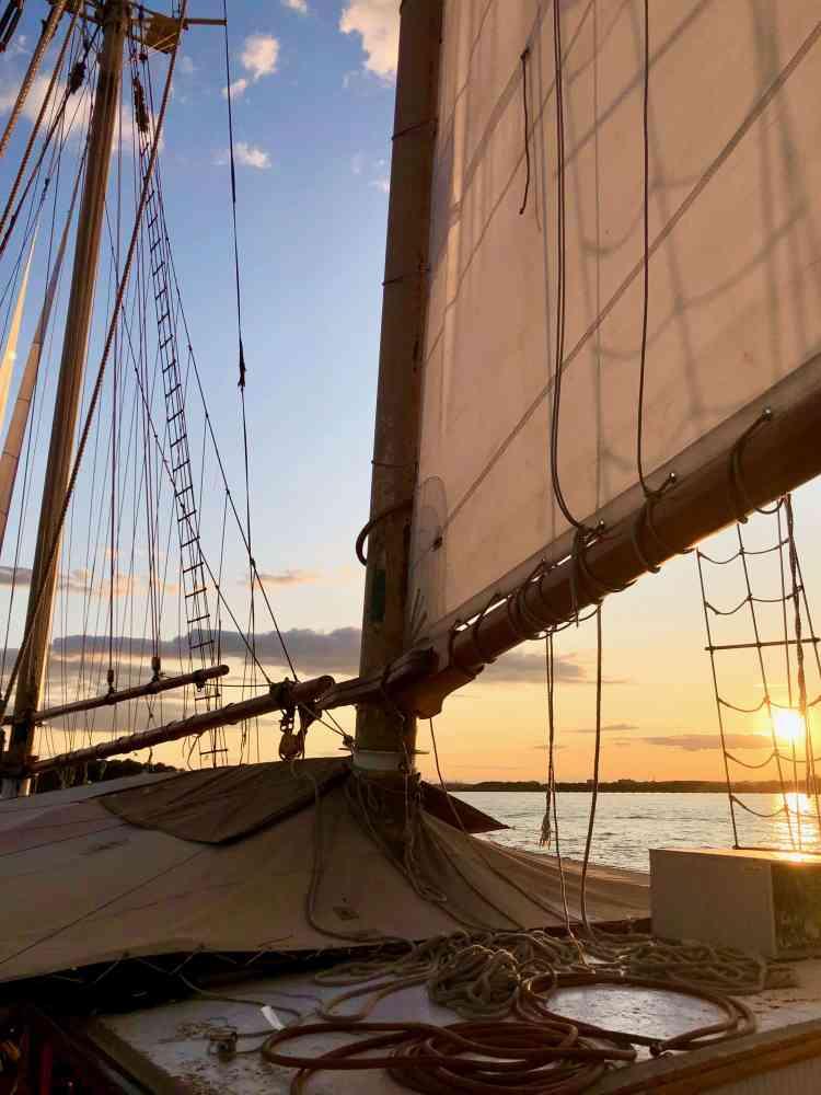 sailing Manhattan in the harbor