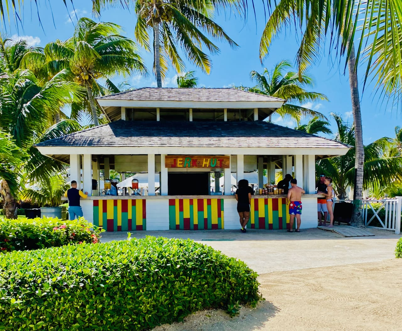 jerk chicken hut in Jamaica