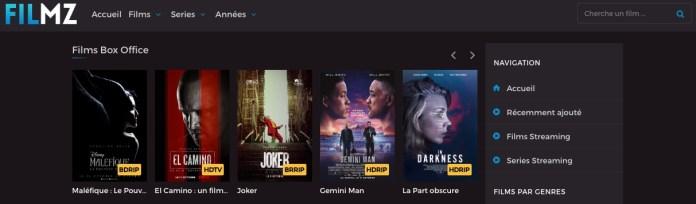 Filmz réuni le meilleur du streaming Français en HD