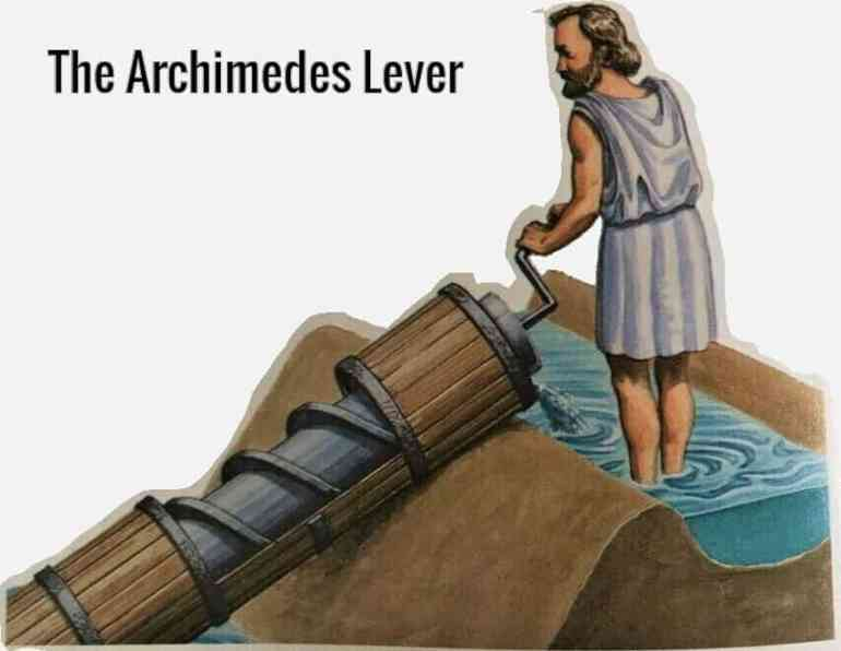 The Archimedes lever