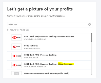 Hello I Have Two Accounts With Hsbc But It Looks Like I Can Only Connect The Current Account To Qbo How Can I Connect The Saving Account
