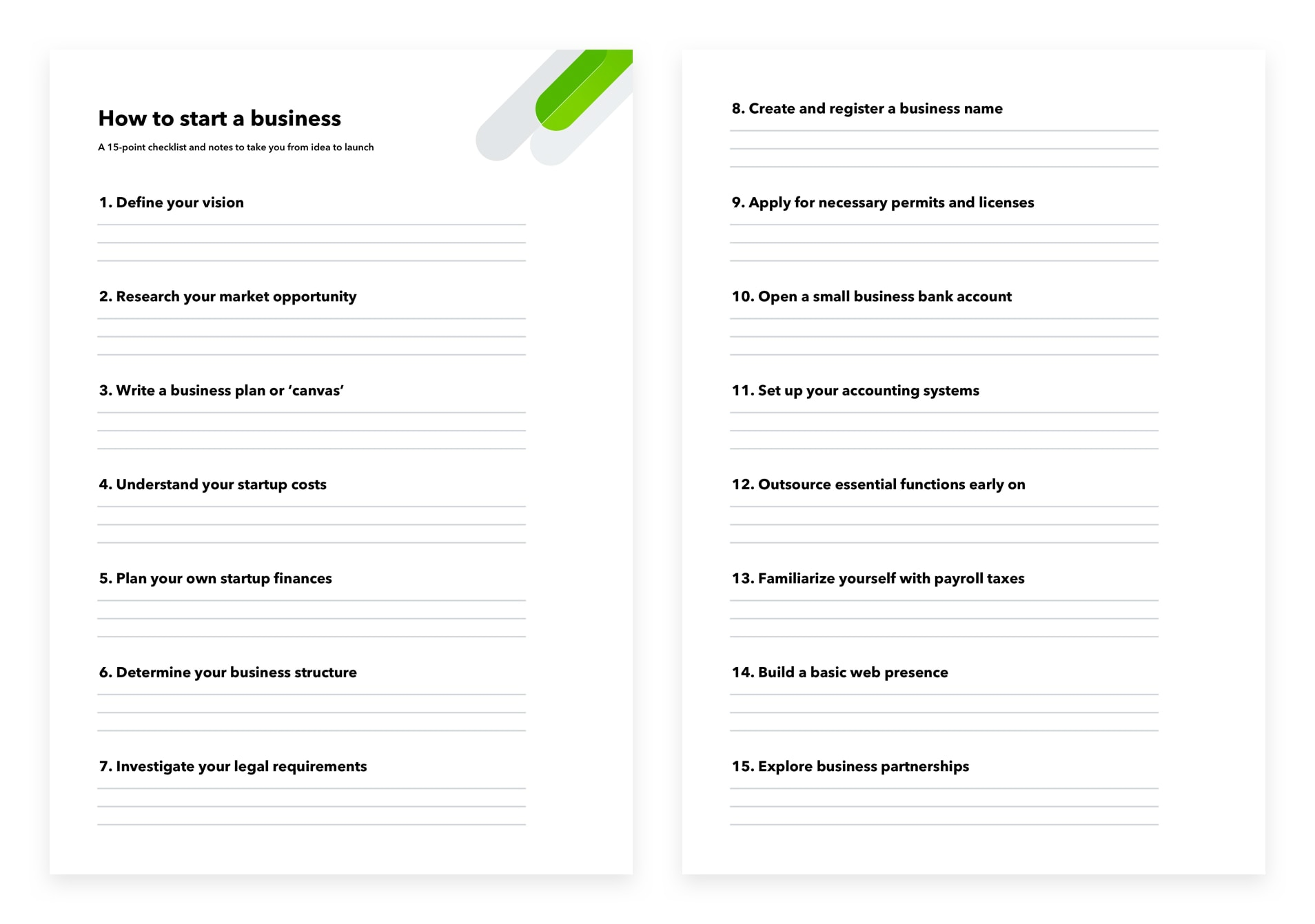 How to start a business in 15 steps: Guide, checklist, and