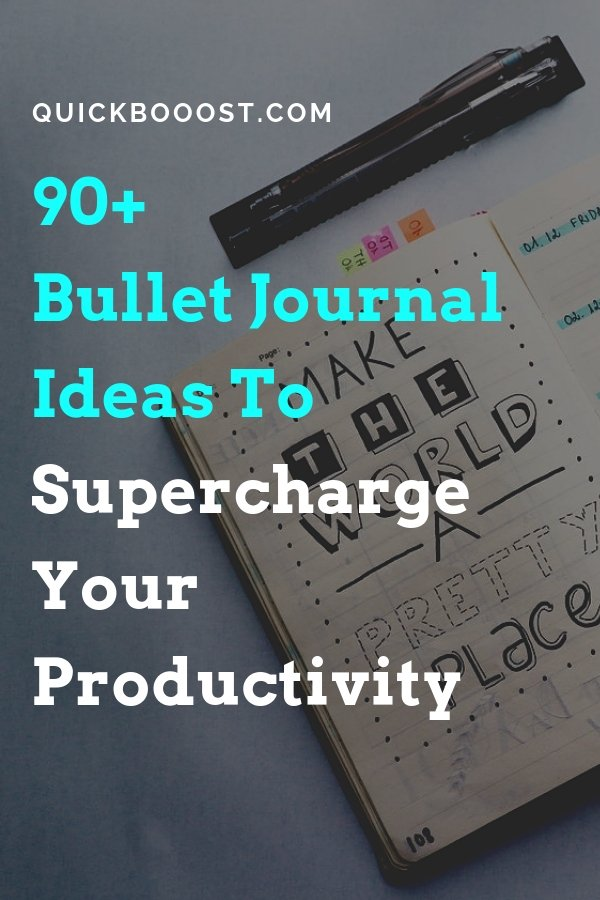 Take your productivity to the next level with these powerful Bullet Journal ideas! Be more productive, get more done, and make real progress forward.