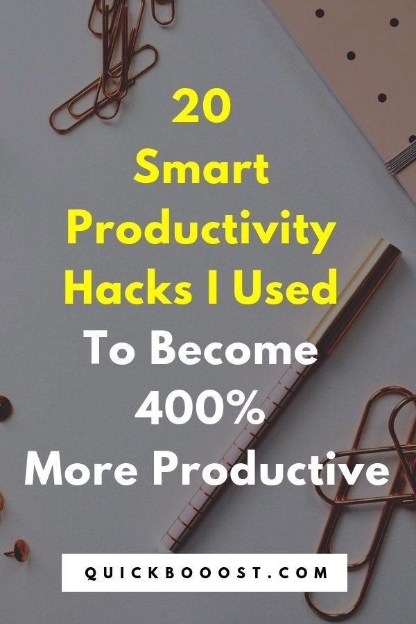 Use these smart productivity hacks to get more of the right stuff done. Discover what I used to boost my productivity and take my effectiveness to the next level.