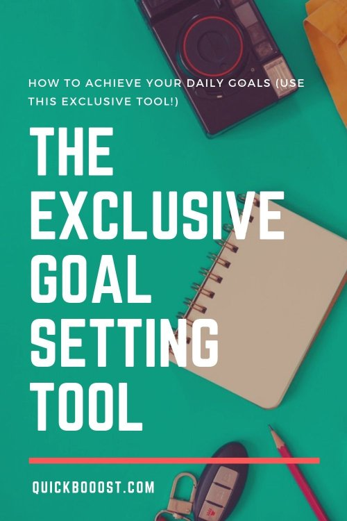 Your daily goals are just one piece of a much larger puzzle. Learn how to achieve your daily goals and attain success with the help of this exclusive goal setting tool.