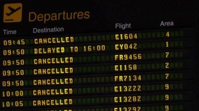 voo sem combustível cancelado ou atrasado