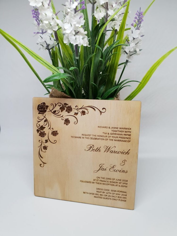 Rose Vines Invitations