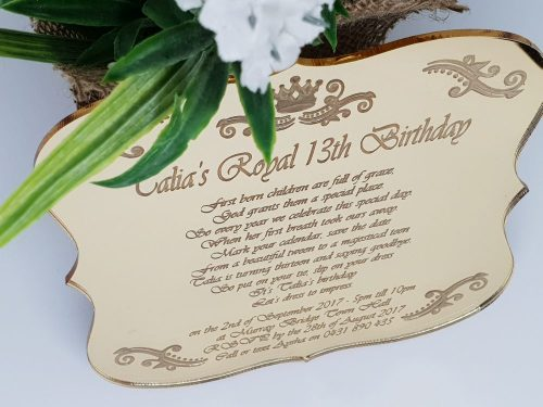 Royal Swirls Invitations
