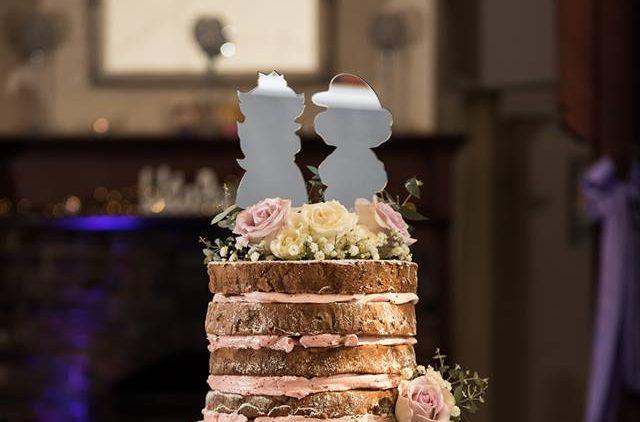Mario & Peach Silver Mirror Cake Topper