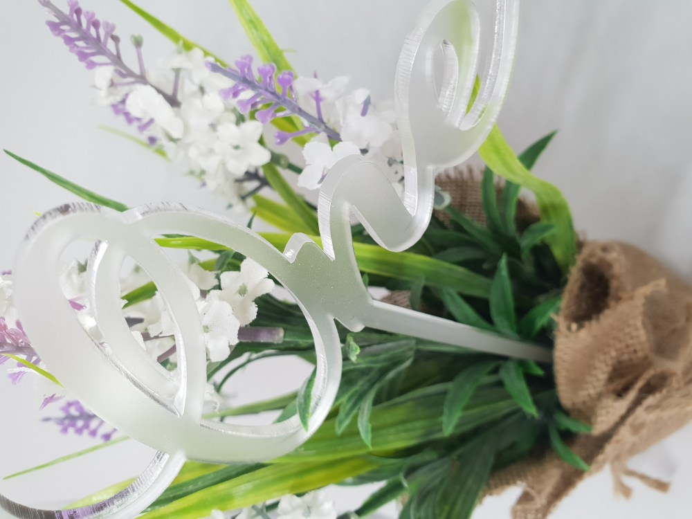 Clear Frosted Table Number Pick
