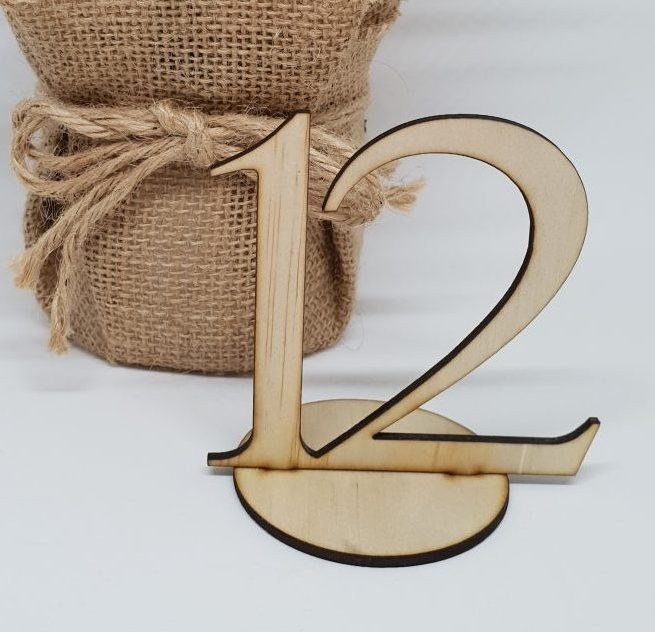 Wooden Small Table Numbers