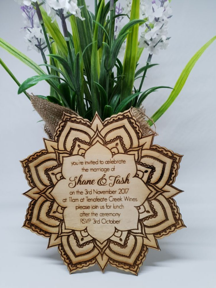 Mandala Flower Invitation