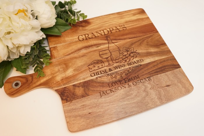 Cheese & Wine Chopping Board