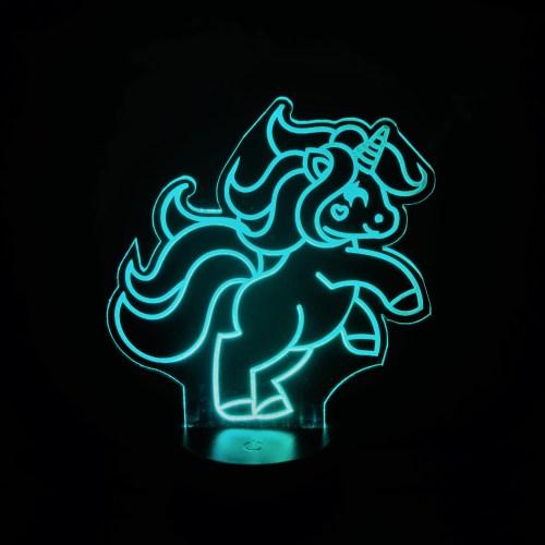 Teal Unicorn Nightlight
